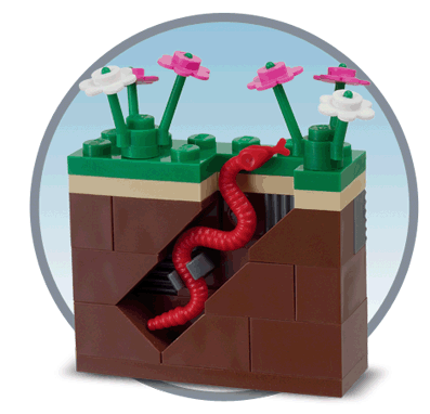 how to build a lego shower